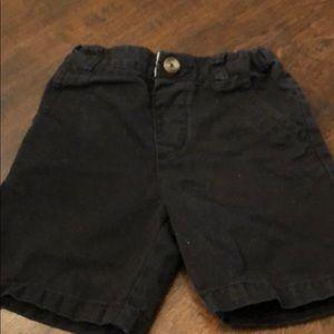 Children's place black shorts size 2T boys